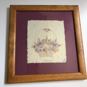 Handmade Wildflower Picture Dried Flowers Art